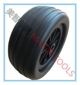10 Inch 10X4 PU Foam Rubber Wheelbarrow Trolley Wheel Tire pictures & photos