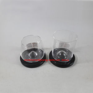 Black Round Marble Stone Coaster with Middle Convex for Glass Cup pictures & photos