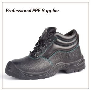 High Cut Genuine Leather Wide Steel Toe Work Boot pictures & photos