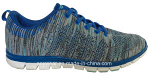 Men′s Sports Running Shoes with Knitted Woven Upper Footwear (815-2319) pictures & photos