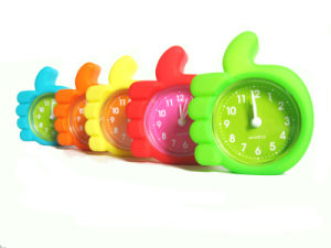 Promotional Unbreakable Cute Candy Color Silicone Mini Alarm Clock pictures & photos