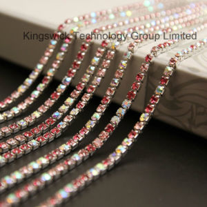 2mm Silver Metal Base Shinning Crystal Rhinestone Cup Chain pictures & photos