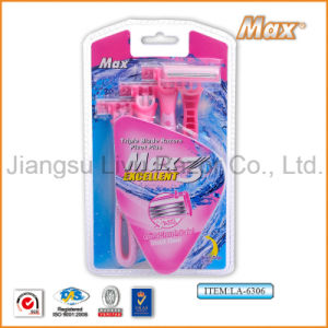 High Cost-Effective Good Quality Hot Selling Disposable Triple Blade New Design Razor for Woman (LA-6306) pictures & photos