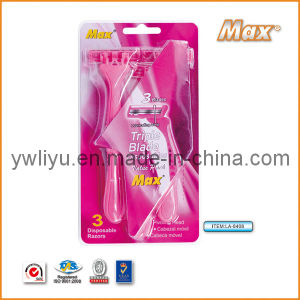 6cr16 Stainless Steel Blade Disposable Shaving Razor (LA-8408) pictures & photos