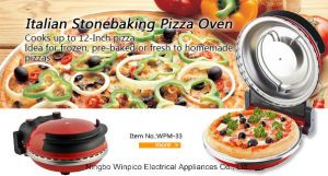 Electric Pizza Oven with 33cm Pizza Stone Plate
