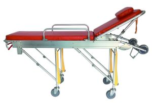 Ce Certification Folding Emergency Hospital Stretcher with Detached Cushioned pictures & photos