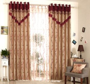 Simple Style Yarn Dyed Jacquard Fabric Curtain (MX-164) pictures & photos