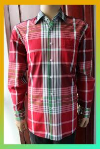 100% Cotton Big Check Shirt (FLR13A0675-1)