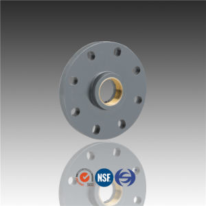 Huasheng Plastic Dn100 Dn150 Dn200 CPVC DIN Copper Bling Flange with Brass Threaded pictures & photos