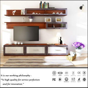 Modern UV Wooden MDF TV Cabinet (FY026) pictures & photos