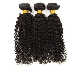 Free Shipping Unprocessed Hair Double Drawn Kinky Curl Virgin Brazilian Hair Weave