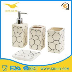 New Design Ceramic Glazed Bath Set Lotion Dispenser Bathroom Accessory pictures & photos