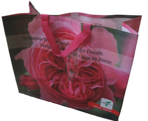 PP Woven Laminated Handbags, Reusable Tote Bag with Customized Design pictures & photos
