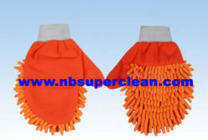 Hot Sale Car Washing Mitt in Microfiber Material (CN1413) pictures & photos