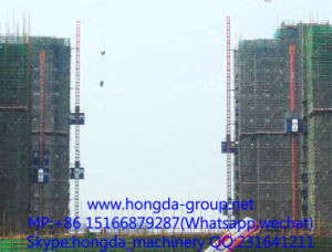 Hongda Competitive Construction Elevator Sc200/200 pictures & photos