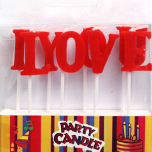 "Red ""I Love You"" Letter Candles Wedding/Valentine Party Candles (ZMC0061)"