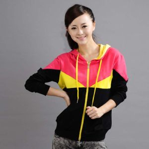 Custom Cotton/Polyester Colour Comb Hoodies Sweatshirt (F023) pictures & photos