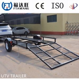 Galvanizing Single Axle Semi Truck Trailer Flatbed Trailer pictures & photos