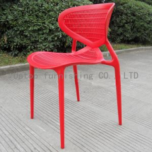 Pastoral Style Red Plastic Stacking Chair for Sale (sp-uc118) pictures & photos
