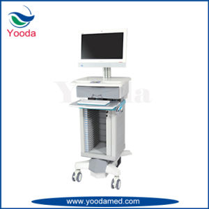 Hospital Medical Computer Cart with Print Tray pictures & photos