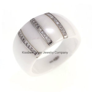 Sterling Silver Jewelry Ring and Ceramic Manufacture (R210049) pictures & photos