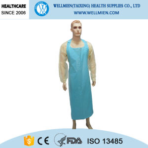 Disposable Plastic Doctor Apron Without Sleeve pictures & photos