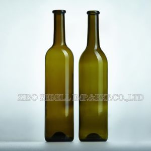 Food Grade 750ml Glass Bottle for Wine with Roll Cork Top (NA-018) pictures & photos