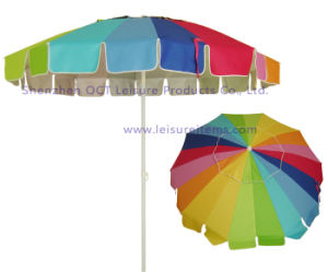 20 Panel Beach Outdoor Umbrella / Parasol (OCT-BUMULP) pictures & photos