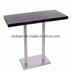 Rectangle Laminated Dining Table with Stainless Steel Base (DS-T16)