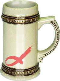 22 oz GermanBeer Stein Mug (Grown Belt)