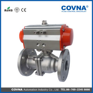 Stainless Steel 2 Way Pneumatic Control Flange Ball Valve China Supplier pictures & photos
