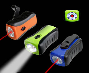 Portable Cranking LED Flashlight (WF-220)