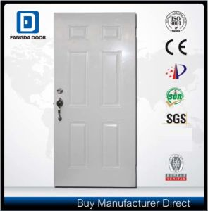 Fangda Classic 6 Panel Steel Door in High Quality pictures & photos