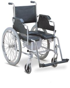 Aluminum Commode Wheelchair with PU Seat (SC-CW11(A)) pictures & photos