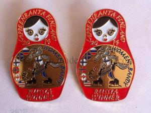 Supply Cheap Custom Soft Enamel Pin, Metal Police Badge