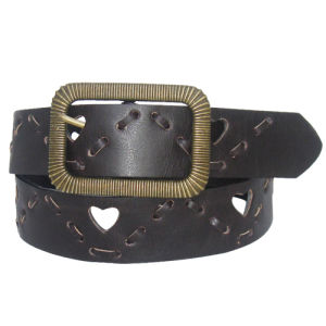 Embossing Round Buckle Fashion PU Belt Ky1394 pictures & photos