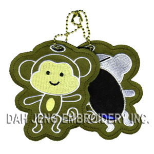 Monkey Embroidered Luggage Tag pictures & photos