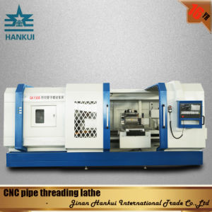 Qk1327 CNC Oil Pipe Lathe for Large Hole Pipe Fitting pictures & photos