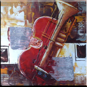 Hand Brush Stroke Canvas Oil Painting - Modern Abstract Guitar
