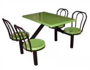 Fiberglass Cateen Table Chair for 4-Person, 4-Person Fiber Glass Cateen Table Chair pictures & photos