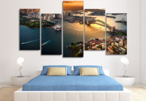 HD Printed Sydney Australia Cityscape Painting on Canvas Room Decoration Print Poster Picture Canvas Mc-068 pictures & photos