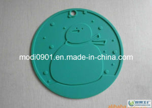 Coaster- Rubber Placemat Soft PVC Washable Customized Rubber Label Silicon Logo pictures & photos