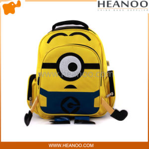 Waterproof Ergonomic Personalized Yellow Minions Children School Bags Backpack Bag pictures & photos