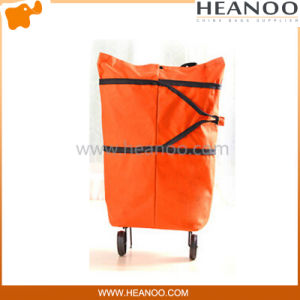 China Supplier Supermarket Folding Shopping Cart Bag with Wheels pictures & photos