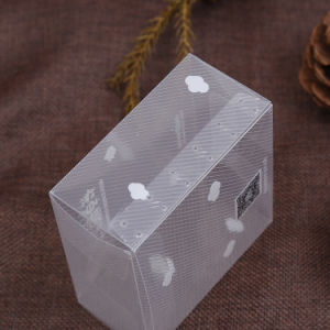 diagonal plastic PVC clear box for gift pictures & photos