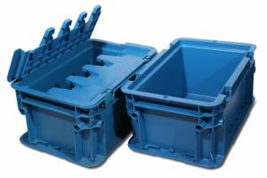 Plastic Stack Container Without Lid, Various Clours of Container (PK-A2) pictures & photos