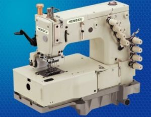 4-Needle Flat-Bed Double Chainstitch Industrial Sewing Machine (ES-1404P Series)