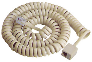 Telephone Cable / Telephone Coiled Extension Cord 4p4c pictures & photos