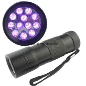 12 PCS LED 365-395nm AAA UV Purple LED Flashlight pictures & photos
