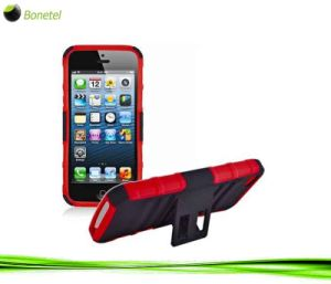 Advanced Armor Hybrid Holster Kickstand Case for iPhone 5 (Black Red)